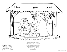 Small Picture Story Of Christmas Coloring Book Coloring Pages
