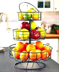tiered kitchen stand 3 tier fruit stands basket three bowl hanging metal baskets food diy farmhouse style
