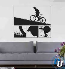 mountain biking vinyl wall decal art 59 00 on downhill mountain bike wall art with 98 best mountain biking images on pinterest bicycle art bicycling