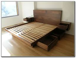 King Size Platform Bed Plans With Drawers Midl Furniture