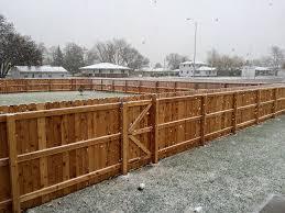 image of wood snow fence large