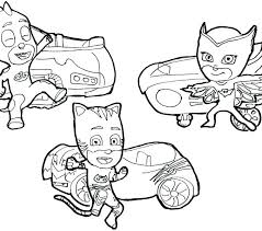 Coloring Pages Pj Mask Coloring Pages To Print Masks Gecko Copy