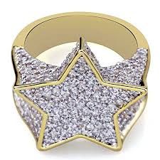 TOPGRILLZ <b>Hip Hop</b> 14K <b>Gold Plated</b> Mens Iced Out Cluster ...