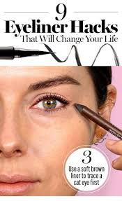 trace your cat eye with a pencil first