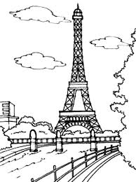 Small Picture Beautiful View of Eiffel Tower Coloring Page Download Print
