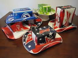 Bud Light Box Cowboy Hat Beer Box Cowboy Hats Three Beer Can Boxes And Spray