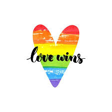Love Wins Quotes Adorable Love Wins Lgbt Pride Slogan And Cute Unicorn Character With
