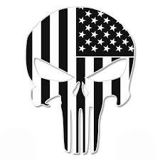 punisher skull subdued american flag
