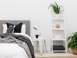 Shelves In Bedroom White Ladder Shelves Mocka Australia