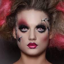 halloween doll makeup look