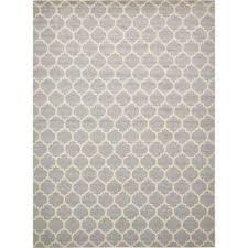 trellis light gray 13 x 18 rug