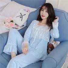 Pajamas for <b>Women</b> Pajamas Set High Quality <b>Sweet Lace</b> Long ...