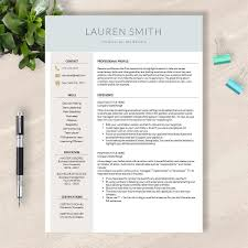 Template Resume Template Modern Pleasing Word And Apple Pages Mac