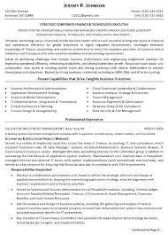 Resume Sample 12 Strategic Corporate Finance Technology