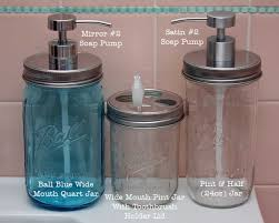 Mason Jar Bathroom Accessories Stainless Steel Soap Lid Adapter For Wide Mouth Mason Jars