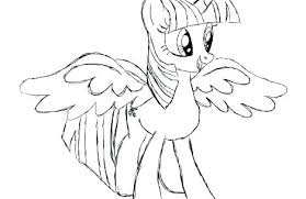 Twilight Sparkle Free Coloring Pages Princess Pony Coloring Pages