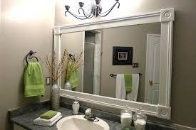 framed bathroom mirror ideas bathroom mirror trim ideas captivating ideas  for framing a large bathroom mirror