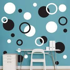black and white polka dots realbig wall