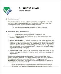 example of a business plan business action plan