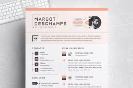 Infographic Resume Cv Template Resume Templates Creative Market