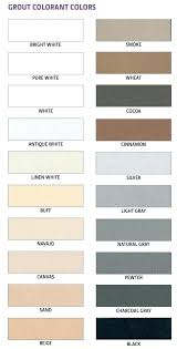 Tec Grout Color Chart Epoxy Grout Colors Codediary