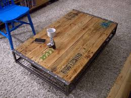 metal and wood furniture. Wood And Metal Coffee Table Reclaimed Furniture