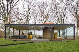 architecture houses glass. Design Architecture Houses Glass House Philippe Johnson Outside