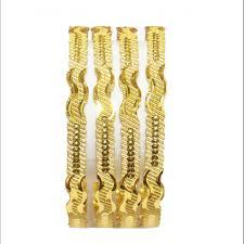 Bridal Bangle Set Designs Exons 18k Gold Plated Multi Design Bridal Bangles 4 Pcs Set