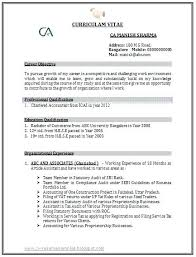 Sample Accountant Resume Resume Template Directory