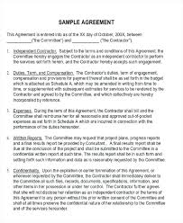 Example Of An Agreement Business Agreement Contract Template