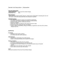Dishwasher Resume Examples Example Of Dishwasher Resume Feat Dishwasher Resume Sample