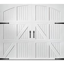 garage doors lowesShop Pella Carriage House 108in x 84in White Single Garage Door