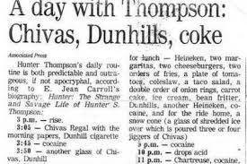 hunter s thompson s daily routine mental floss