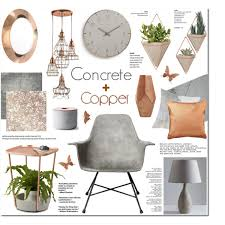 Small Picture Concrete Copper Home Decor 282 Polyvore