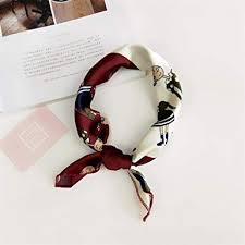 <b>Women's</b> Scarves & Wraps <b>Elegant Satin</b> Small Square Printed ...