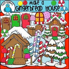 Image result for making gingerbread houses clipart