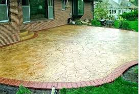 Backyard Concrete Designs Interesting Backyard Concrete Patio Ideas Painted Concrete Patio Ideas Backyard