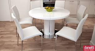 white round dining table and chairs ikea room sets for 4 set patio