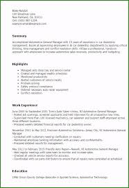 Automotive Service Manager Resumes Automotive Sales Manager Resume Examples Very Best 1