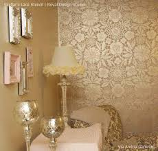Small Picture Skylars Lace Floral Stencil Diy wallpaper Stenciling and Lace
