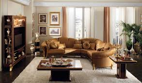 gallerie living home simple  decorating living room elegant table and remarkable round brown fabri