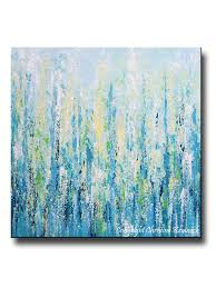 oversized blue abstract wall art