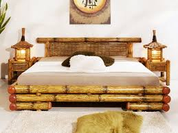bamboo bedroom furniture become unique decoration in bedroom