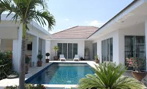 u shaped house plans with pool australia courtyard in middle