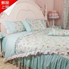 originalviews 843 viewss 630 alink chic blue roses ruffle bedding