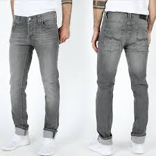 B Stock Nudie Mens Slim Fit Stretch Jeans Grim Tim Cygnet Grey W31 L32 Ebay