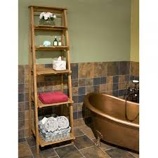 Bathroom Shelf Oversized Ladder Style Teak Bathroom Shelf Bathroom