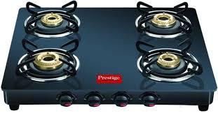 gas stove. Prestige GTM 04 Black Glass Manual Gas Stove U