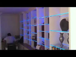 Glass shelves bookcase Drawers Bookcase With Led Glass Shelf Lights Youtube Bookcase With Led Glass Shelf Lights Youtube