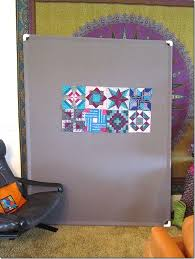 24 best Quilt Design Wall Ideas images on Pinterest | Billboard ... & Easy design wall: Kay Sorensen made this with a gray flannel sheet, 4  pieces of PVC pipe and 4 PVC pipe elbows. Adamdwight.com